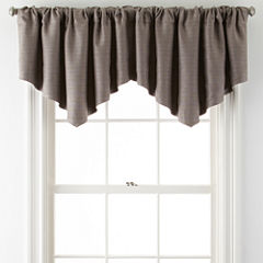JCPenney Home™ Quinn Basketweave Ascot Rod-Pocket Valance
