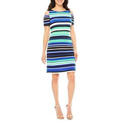 Ronni Nicole Short Sleeve Cold Shoulder Shift Dress