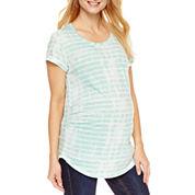a.n.a Short Sleeve Scoop Neck T-Shirt-Maternity