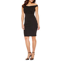 Bold Elements Criss Cross Front Bodycon Dress