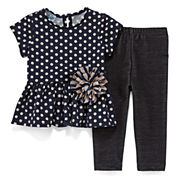 Marmellata 2-pc. Short-Sleeve Top and Leggings Set - Baby Girls 3m-24m
