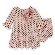 Marmellata Long-Sleeve Polka-Dot Dress - Baby Girls 3m-24m