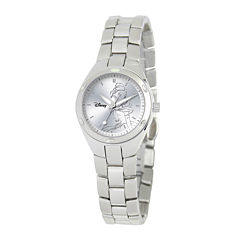 Disney Fortaleza Belle Womens Silver-Tone Watch