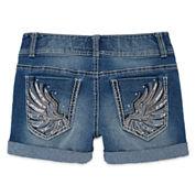 Vanilla Star® Denim Shorts with Embellished Pockets - Girls 7-16 and Plus
