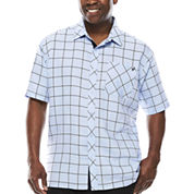 Steve Harvey Short-Sleeve Plaid Shirt - Big & Tall