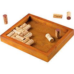 Wine Enthusiast® Wine Cork Mahogany Trivet Kit