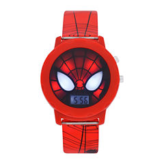 Spiderman Boys Red Strap Watch-Spd4421jc
