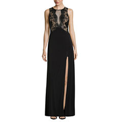 Trixxi Sleeveless Lace Party Dress-Juniors