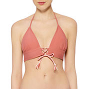 Arizona Solid Triangle Swimsuit Top-Juniors