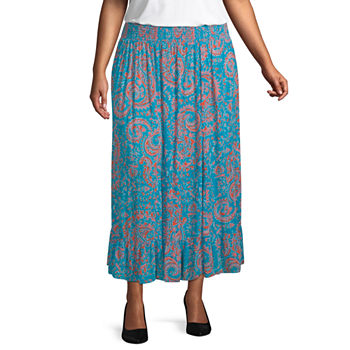 East 5th Broomstick Skirt Plus
