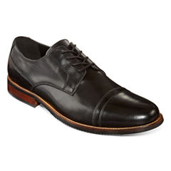 Claiborne® Boxer Mens Leather Cap-Toe Oxfords