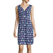 St. John's Bay® Sleeveless Print Tank Dress