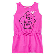 Okie Dokie® Sleeveless Graphic Sundress - Toddler Girls 2t-5t