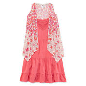 Knit Works® Sleeveless Sundress & Cozy 2-pc. Set – Girls 4-6