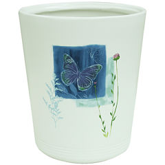 Bacova Indigo Wildflowers Wastebasket