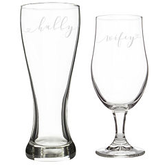 Cathy's Concepts Hubby & Wifey 2-pc. Pilsner Glass