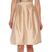 Be by CHETTA B High-Rise Silk Flare Skirt
