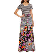 Trulli Short Sleeve Maxi Dress