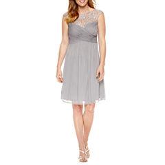 Melrose Short Sleeve Fit & Flare Dress