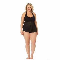 Arizona Geometric Tankini Swimsuit Top or Hipster Bottom-Plus