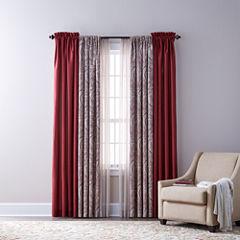 Royal Velvet Plaza Thermal, Florence, & Crushed Voile Sheer Rod-Pocket Curtain Panels