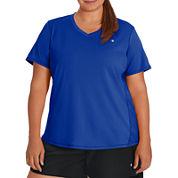 Champion Short Sleeve V Neck T-Shirt-Plus