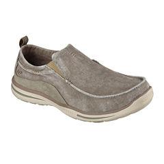 Skechers® Drigo Mens Canvas Slip-On Shoes