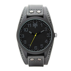Zoo York® Mens Black and Gray Strap Watch