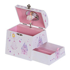 Mele & Co. Amy Musical Ballerina Wooden Jewelry Box