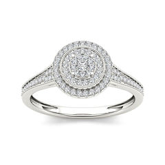 tw diamond 10k white gold engagement ring - Jcpenney Jewelry Wedding Rings