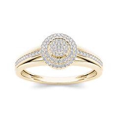 1/5 CT. T.W. Diamond 10K Yellow Gold Engagement Ring