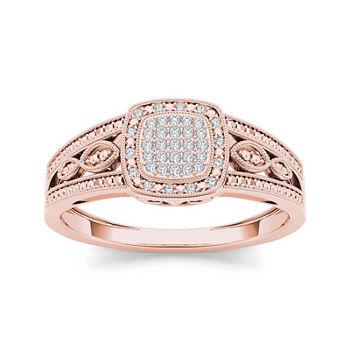 110 Ct Tw Diamond 10k Rose Gold Engagement Ring