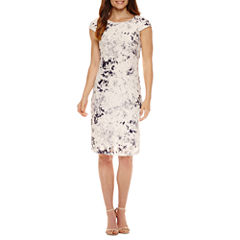 Liz Claiborne Short Sleeve Lace Sheath Dress