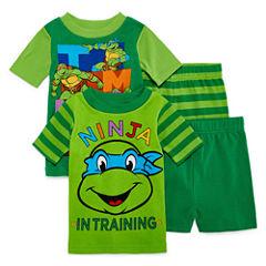 4-pc. TMNT Short Sleeve-Toddler Boys