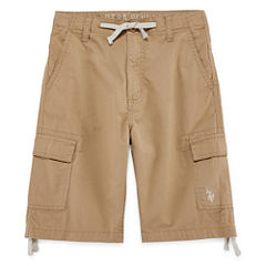 U.S. Polo Assn. Classic Fit Twill Cargo Shorts - Big Kid Boys