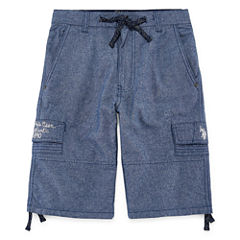 U.S. Polo Assn. Classic Fit Chambray Cargo Shorts - Big Kid Boys