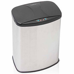 Brushed Stainless Steel Motion Activated Touch-Free Sensor Trash Can, 4 Gal