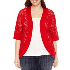 Liz Claiborne Crochet Shrug-Plus