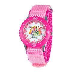 Disney Time Teacher Princesses Pink Fast Strap Watch