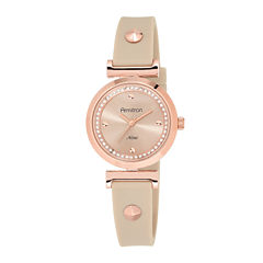 Armitron® Now® Womens Crystal-Accent Pink Strap Watch