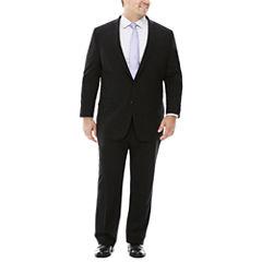Claiborne® Stretch Black Grid Suit Separates - Big & Tall