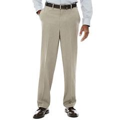 Savane® Micro Melange Flat Front Pants - Classic