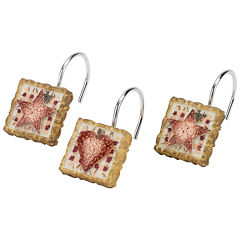 Avanti® Hearts & Stars Shower Curtain Hooks