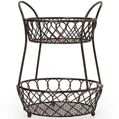 Gourmet Basics By Mikasa® Loop & Lattice 2-Tier Basket
