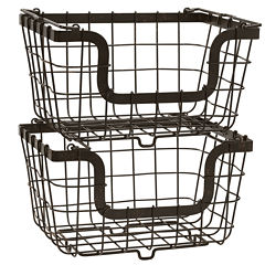 Gourmet Basics by Mikasa® General Store 2 Stacking & Nesting Baskets