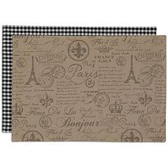 Design Imports French Flourish Set of 6 Reversible Placemats