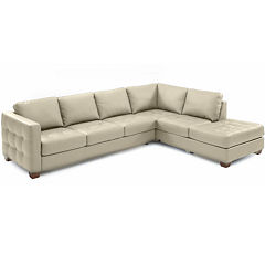 Bryce 2-pc. Metro Leather Right-Facing Corner Chaise Sectional