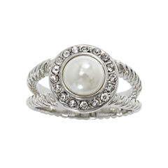 city x city® Pearlescent & Clear Crystal Double-Shank Ring