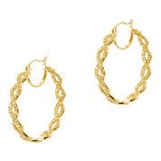 CZ by Kenneth Jay Lane Gold-Tone Infinity Hoop Earrings