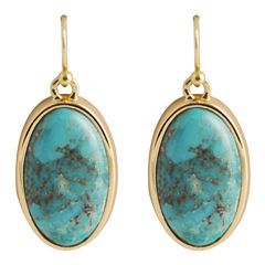 Art Smith by BARSE Turquoise Oval Earrings